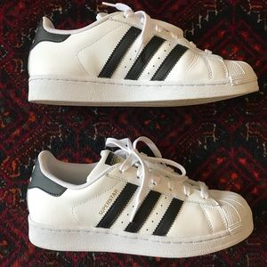 Adidas Superstar Shoes White/Black Mens